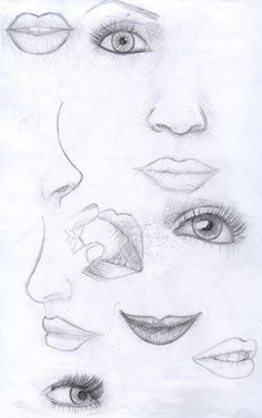 More Face Sketches by ~Zaratulah on deviantART