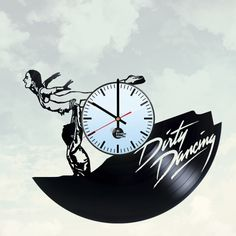 Dirty Dancing Handmade Vinyl Record Wall Clock - VINYL CLOCKS