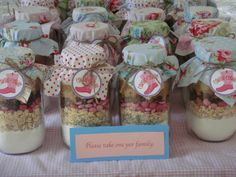 Cookie mix in a jar at a Cowgirl Party #cowgirl #partycookie