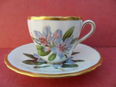 Spode Lily, Coffee Cup & Saucer
