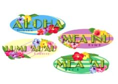 Hawaiian Sign Cutout Printed (4 In A Pack). http://www.novelties-direct.co.uk/hawaiian-sign-cutout-printed-4-in-a-pack.html