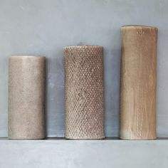 In black or white, handcrafted vases with the most beautiful natural textures. Gilles Caffier. http://monc13.com/