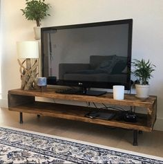 Wohnzimmerschränke Reclaimed wood TV stand / cabinet high Etsy Raising a Healthy and Fit Child Reclaimed Wood Tv Stand, Reclaimed Wood Furniture, Dark Wood Tv Stand, Wood Tv Stands, Pallet Tv Stands, Salvaged Wood, Industrial Furniture, Tv Stand Decor, Diy Tv Stand