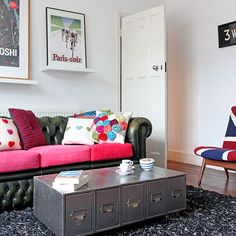 Eclectic living room | 1930s semi | House tour | PHOTO GALLERY | Ideal Home | Housetohome.co.uk