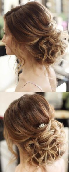 Featured Hairstyle: tonyastylist (Tonya Pushkareva) www.instagram.com/tonyastylist; Wedding hairstyle idea.