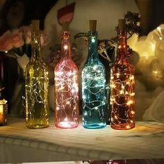 15 LEDs Wine Bottle String Lights Champagne Cork LED Light for Home Festival Party Decor 90cm