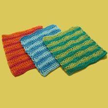 Wavy Stripes Dishcloth