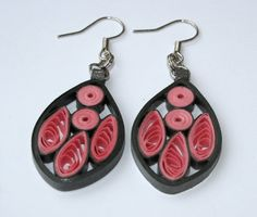 """Quilled Earrings """"Pink Drops"""" Quilled Jewelry"""