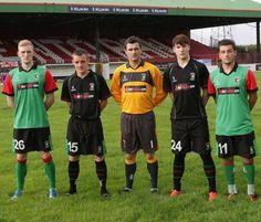 Glentoran 2013/14 Kukri Home, Away and Goalkeeper Kits