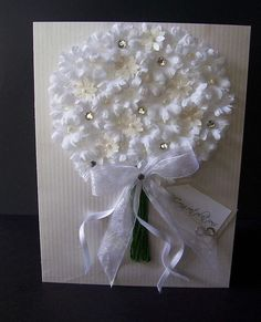 Wedding card ~ bountiful bouquet, think about a wedding tree?