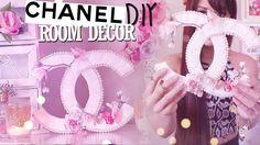 DIY ✿ Chanel Room Décor You Need: Chanel stencil, Lace trim, Fake flowers, beads/pearl necklace, Foam board or Trifold board, Mini Hot Glue Gun, Hot Glue Sticks, Scissors, X-Acto Knife