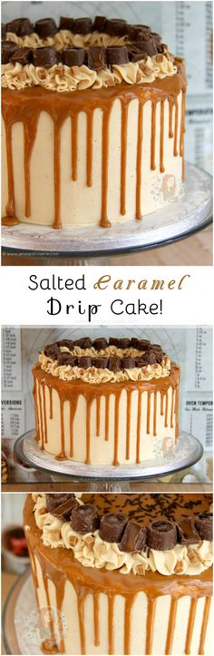 Salted Caramel Drip Cake! ?? A Delicious, Dreamy, Sweet & Salty Cake that everyone will enjoy. A Salted Caramel Drip Cake to beat all others, the true showstopper! (Chocolate Cake)