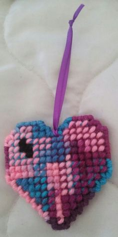 Aqua/Pink/Magenta/Purple Heart