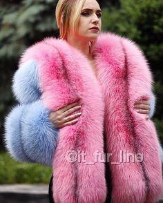 dyed fox furs