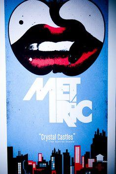 Crystal Castles - Metric poster | Flickr - Photo Sharing!