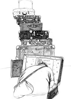antique market by Victoria Semykina, via Behance Victoria, Visual Map, Paper Installation, Antique Market, Black And White Drawing, Book Illustration, Fleas, Illustrations Posters, Poster