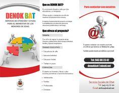 DENOK BAT elkartearentzat eginiko triptikoa / Triptico para la asociación DENOK BAT