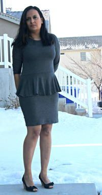 Learn how to sew your own lovely and flattering dress this season when you check out this Peplum Dress Sewing Pattern.