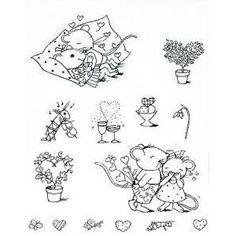 Artemio - Set de 8 Tampons Clear - Pic  Lily - Valentine - 5.7 x 8.3 cm