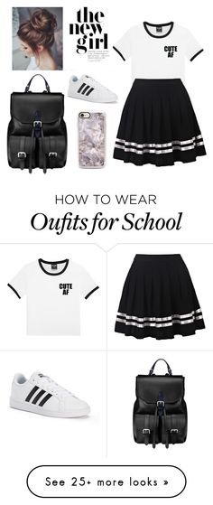 """""""Old School style ✔"""" by ivaskweek on Polyvore featuring adidas and Aspinal of London"""