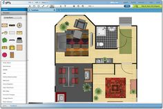 I will be creating a floor plan and designing what will go into the space that is provided.A floor plan is the first step on a interior designer's list to go over.By having the layout of the area you will be working with it lets the designer know what he/she is working with to get ideas flowing.http://www.gliffy.com/uses/floor-plan-software/