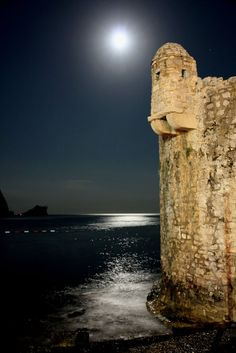 Budva, Montenegro at night This looks like something out of a dream.