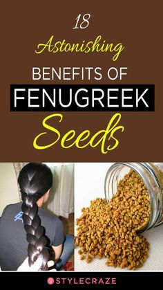 18 Astonishing Benefits Of Fenugreek Seeds (Methi) For Skin, Hair, And Health. #healthandwellness#healthcare #healthylife #healthyliving#healthylifestyle #WeddingHairClips Fenugreek For Hair, Fenugreek Benefits, Nutrition, Natural Home Remedies, Herbal Remedies, Home Health Remedies, Hair Care Tips, Hair Health, Natural Health