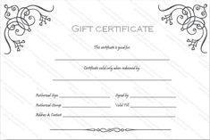 design your custom gift certificate free with our art business gift certificate template you just need to fill it and your certificate is ready to print