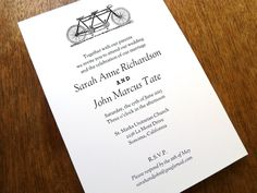 Instant Download  Tandem  DIY Wedding Invitation by empapers