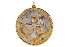 "3"" Silver w/ 18kt-Gold Angel Ornament"