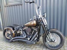 Softail Bobber, Bobber Bikes, Harley Bobber, Harley Bikes, Bobber Chopper, Triumph Motorcycles, Custom Motorcycles, Custom Bikes, Harley Davidson Images