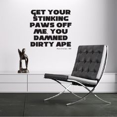 Get your paws of me Wall Sticker Planet of the apes Wall Art