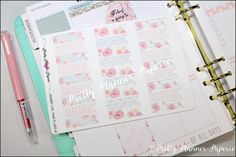 Shabby Chic Planner Flags #2 Planner Stickers for Erin Condren Life Planner & Happy Planner