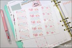 Shabby Chic Planner Flags #2 Planner Stickers for Erin Condren Life Planner & Happy Planner