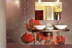 Hotel Les Fleurs · Sofia, Bulgaria - CAD custom design, Vitreo, Brillante, Shining (2 x 2 cm) - Studio Lucchese Design - #trend #mosaic #green #customdesign