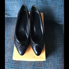 Black 2 inch heels Cute black heels are pre-loved and in good condition. Small peelings around the heels. Size 7.5 M Life strides Shoes Heels