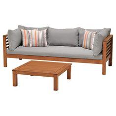 Ensemble sofa 3 places pour patio « Kingsbury », 2 morceaux