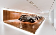 Interior of the BMW Museum in München by Atelier Brueckner.