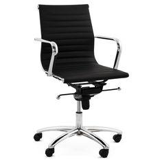 D'une conception exceptionnelle et de bonne fonctionnalité, vous trouverez tout le confort en ce Fauteuil de bureau COURIS en simili cuir (noir).