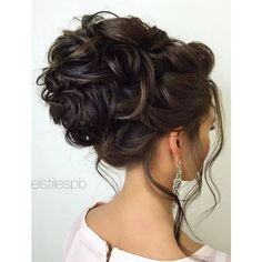 Elstile wedding hairstyles for long hair 64 ❤ liked on Polyvore featuring hair, hair styles and hairstyles