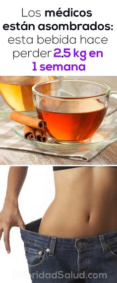 The doctors are amazed: this drink makes lose in 1 week - Para adelgazar - Dieta 1 Week Diet, Detox Tea, Diet And Nutrition, Healthy Drinks, How To Lose Weight Fast, Gym Workouts, Fitness Fashion, Body Care, Smoothies