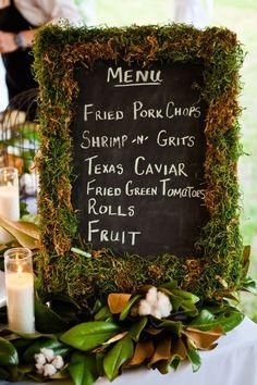 Cute menu!