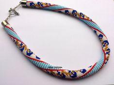 Bead Crochet Necklace  Beaded Necklace  Handmade by alevduzen