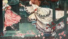 """Eleanor Fortescue-Brickdale (1871-1945) - """"Youth and the Lady"""" by sofi01, via Flickr"""
