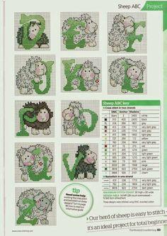 ♥Meus Gráficos De Ponto Cruz♥: Ovelhas