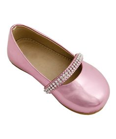 Look at this Mini Treasure Kids Pink Metallic Lauren Flat on #zulily today!