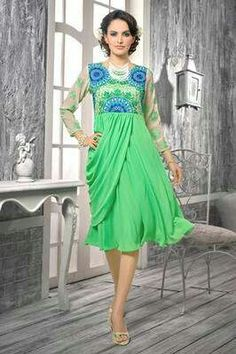 Hey, check out Bright green georgette kurti on Mirraw! https://xeb7.app.link/lxzsFRVx7z?product_id=1367329