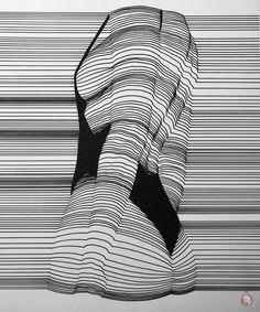 Line Work – Nester Formentera Art Photography Portrait, Figure Photography, Contour Line Art, Surealism Art, Illustrations, Illustration Art, Elements Of Art, Op Art, Female Art