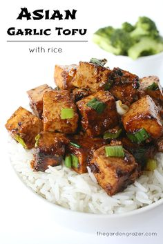 Asian Garlic Tofu with Rice
