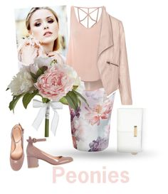 """""""Peonies"""" by gagenna ❤ liked on Polyvore featuring Glamorous, Zizzi, Gianvito Rossi, River Island, Pier 1 Imports, women's clothing, women, female, woman and misses"""